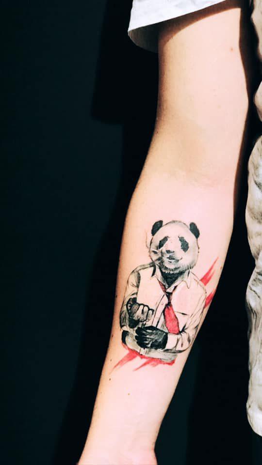panda dövmesi ankara dövmeci