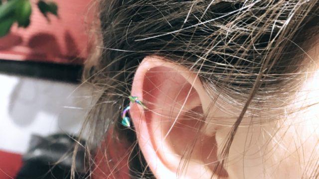 helix renkli piercing