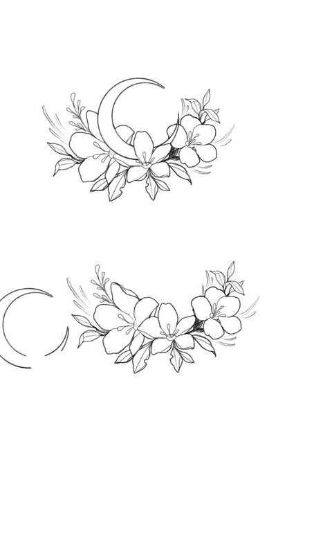 çiçek dövme modeli 7