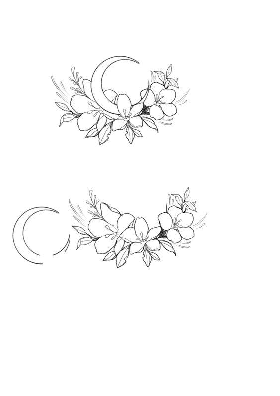 hilal çiçek çizimi