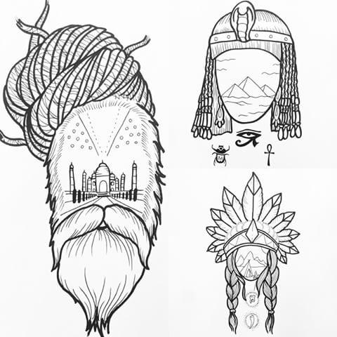 drawing dövme modeli
