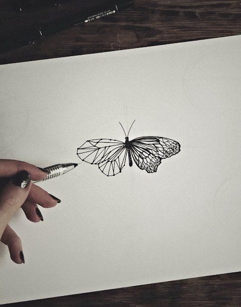 kelebek çizimi