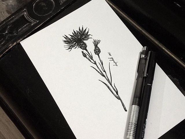 çiçek dövme modeli 2