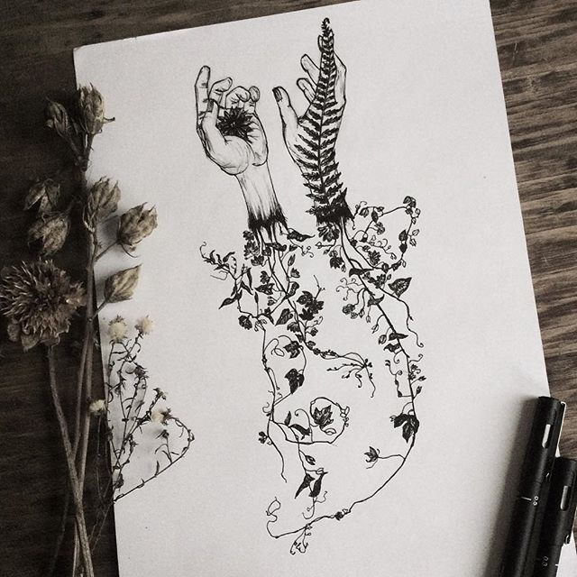 çiçek el dövme modeli