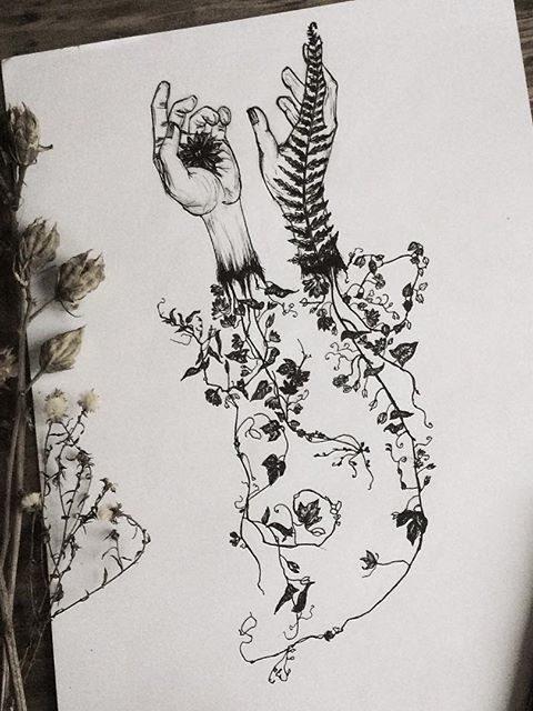 flowers tattoo desing 2