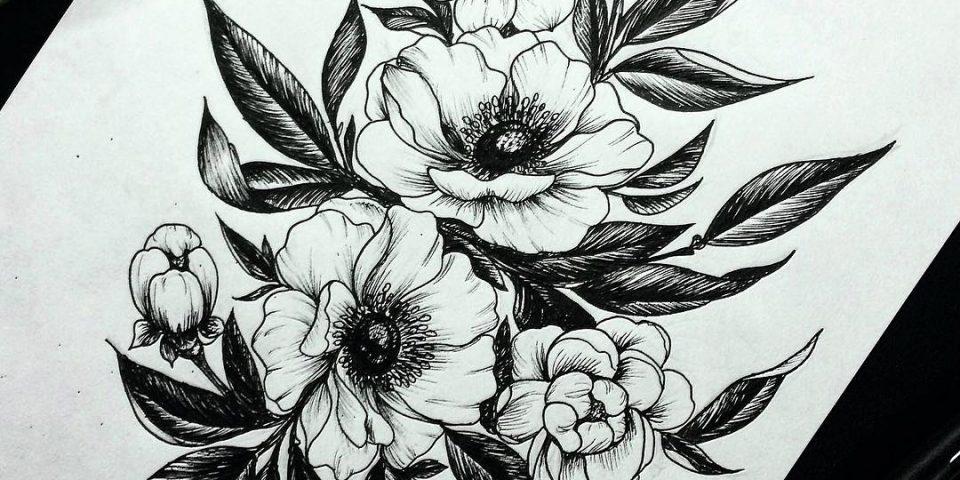 flowers tattoo desing 3