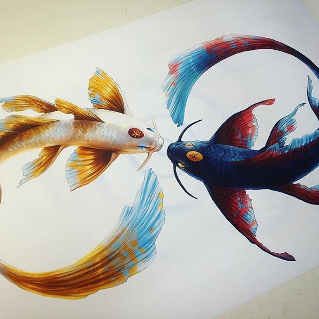 balık dövme modeli
