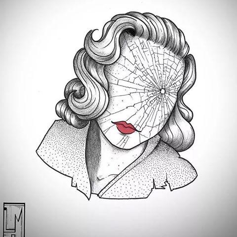 kadın dövme modeli