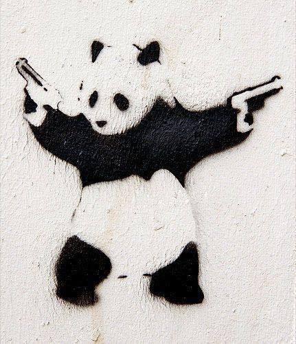 panda dövme modeli