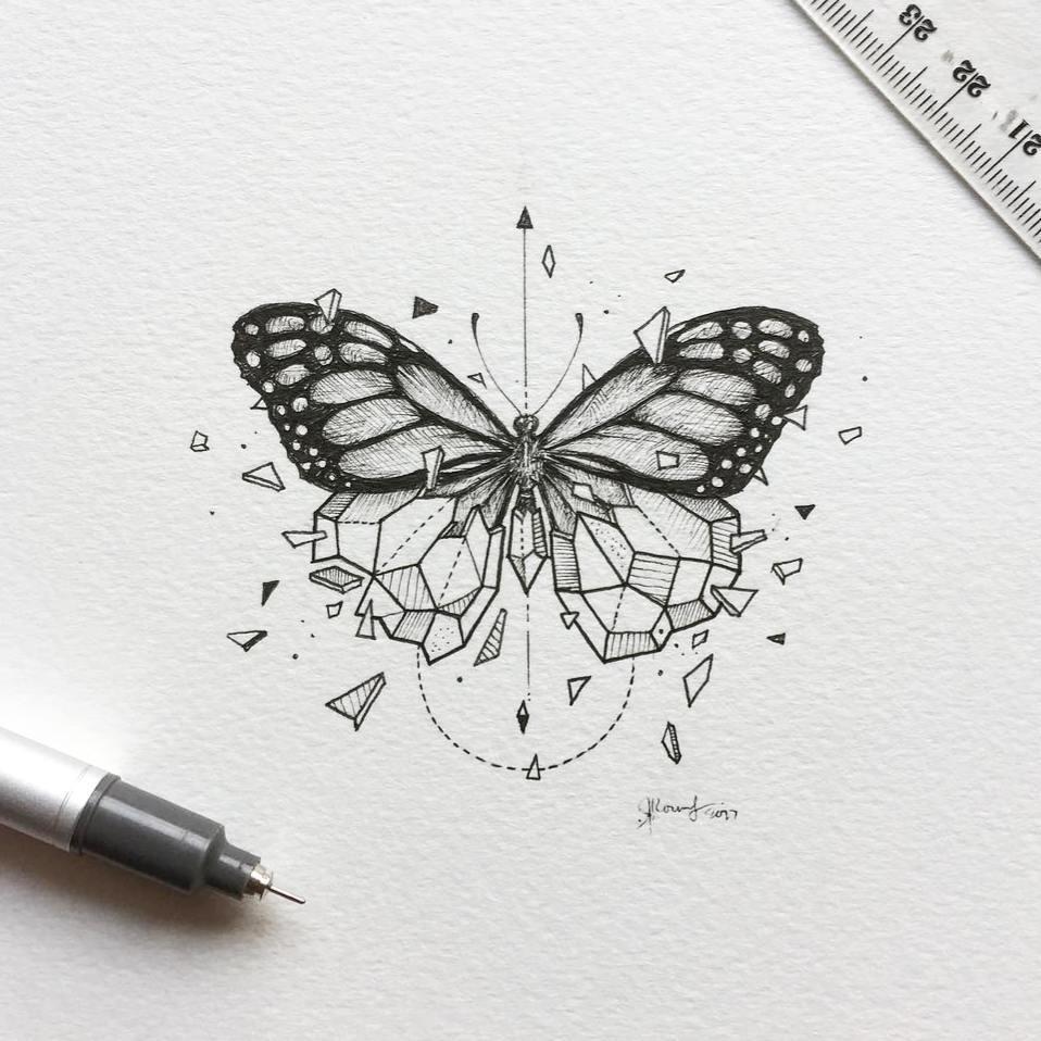 kelebek dövme modeli
