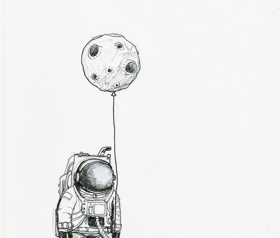 astronot dövme modeli