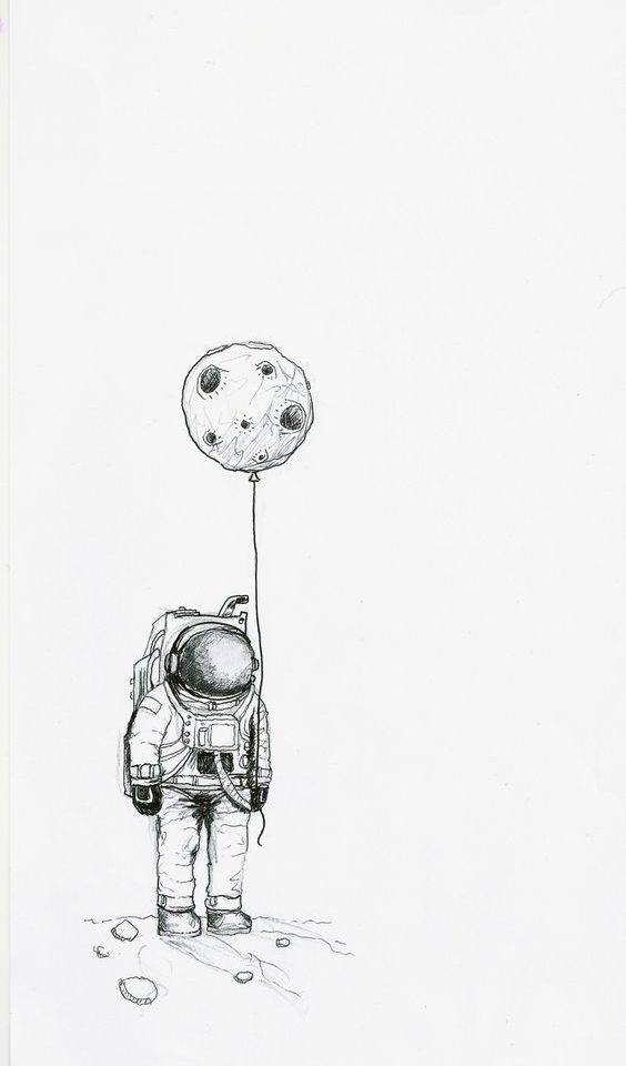 astronot çizimi