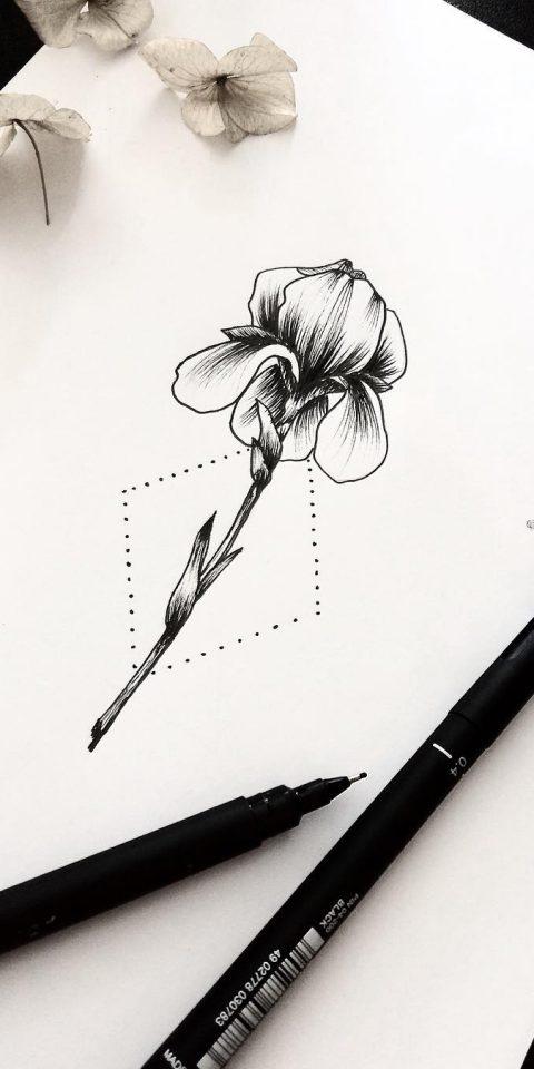 pamuk çiçek dövme modeli