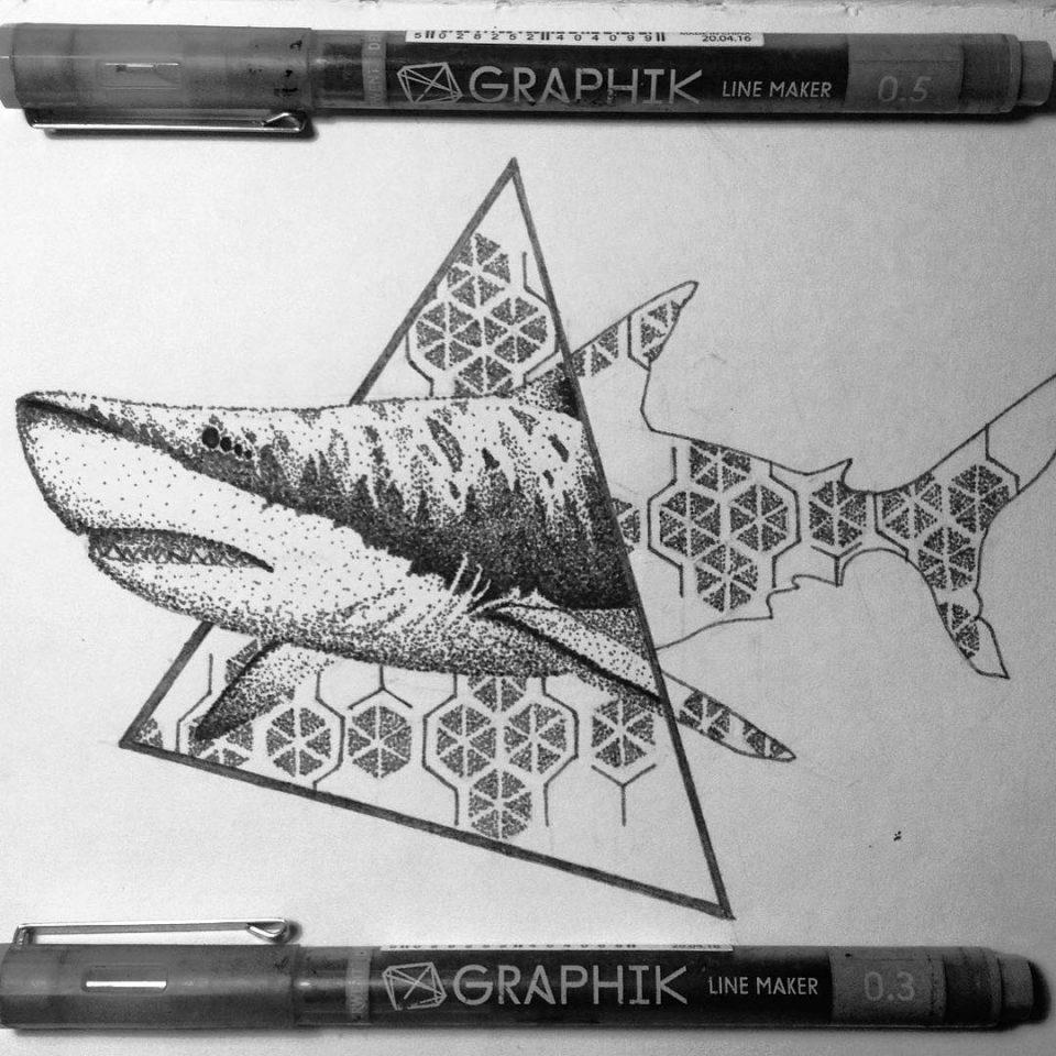 köpek balıgı dövme modeli