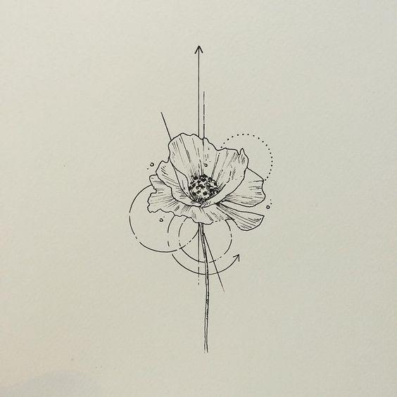 çiçek dövme modeli 8