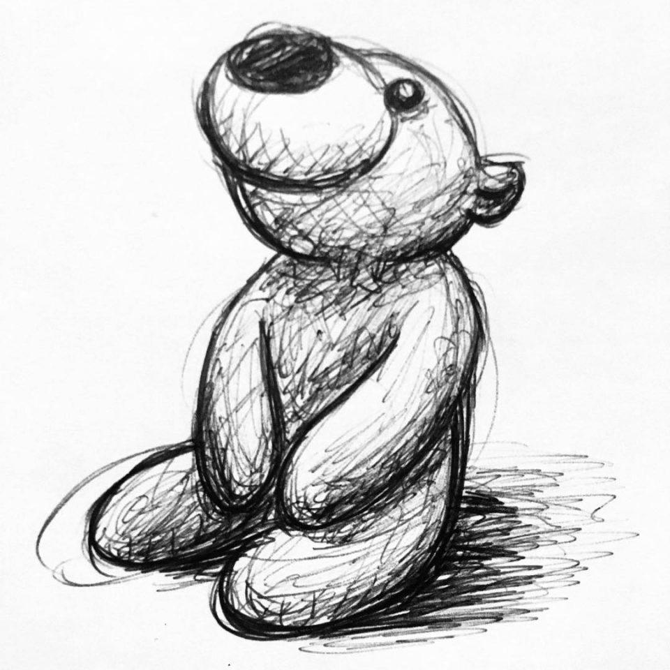 oyuncak ayı dövme modeli
