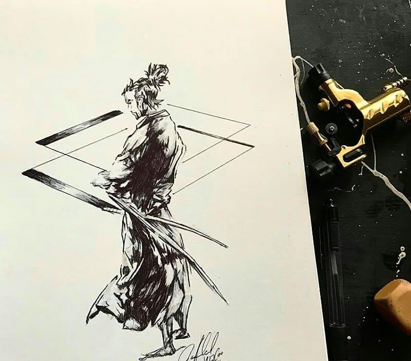 samuray dövme modeli
