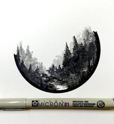 orman dövme modeli