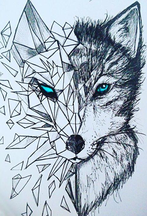 wolf tattoo desing