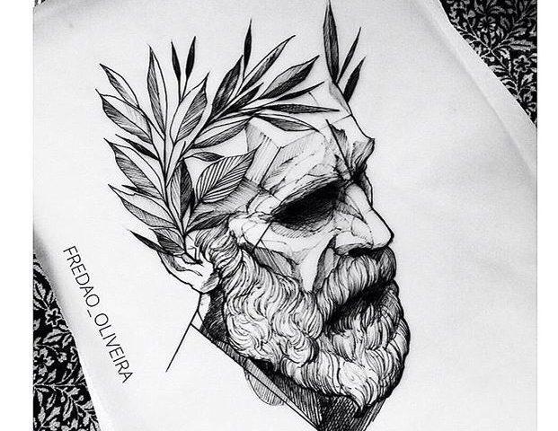 face tattoo desing