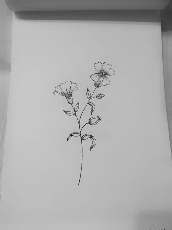 çiçek dövme modeli 9
