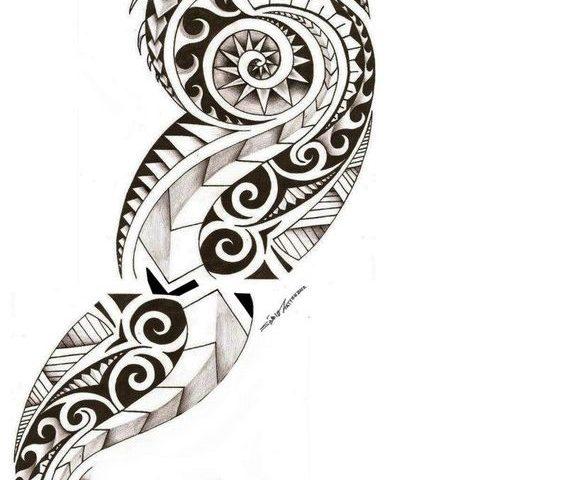 maori dövme modeli