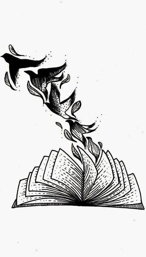 kitap kuş çizimi