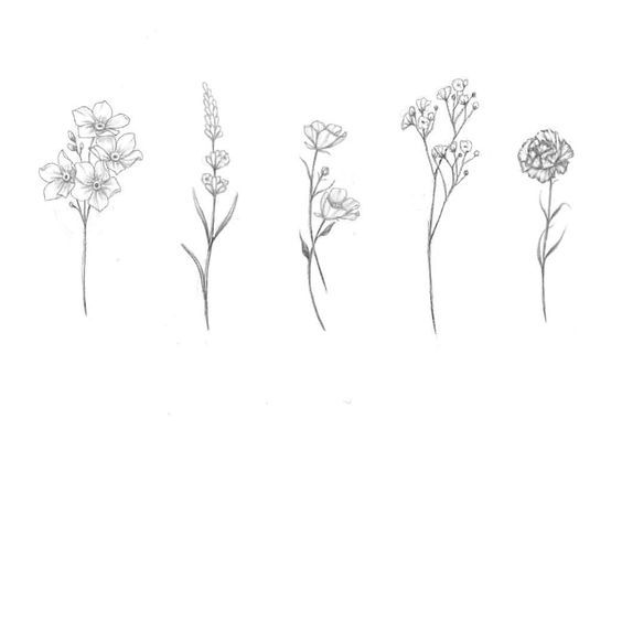 çiçek dövme modeli4
