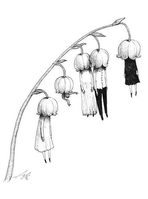 insan çiçek dövme modeli