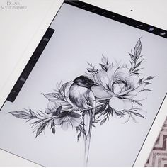 çiçek  kırlangıç dövme modeli