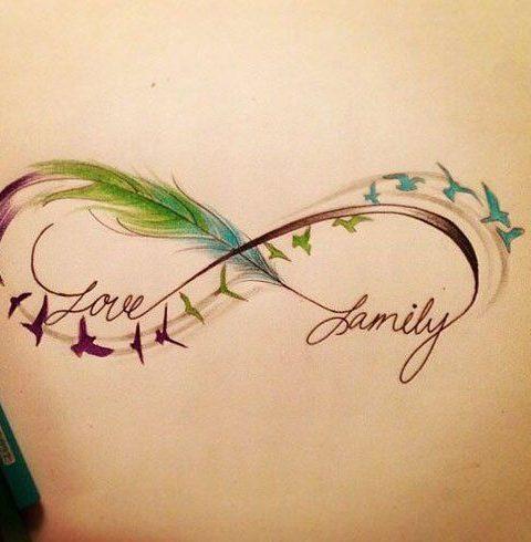 sonsuzluk dövme çizimi