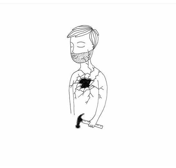 kırık adam dövme modeli