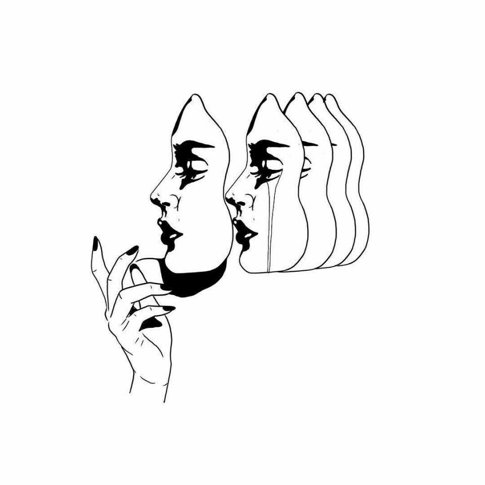 mask tattoo desing