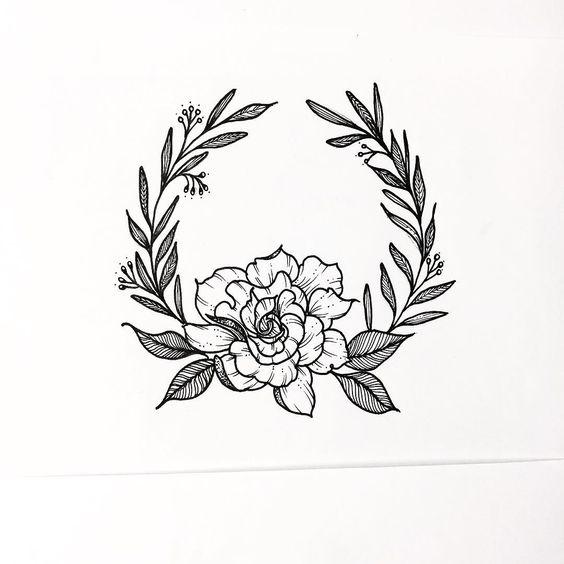 çiçek dövme modeli 10