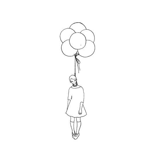 balon kadın dövme modeli