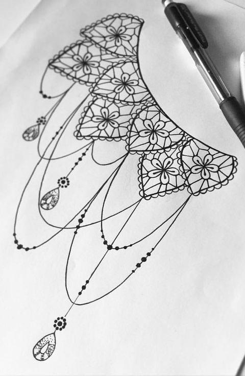 mandala dövme modeli