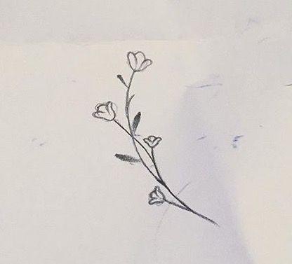 minimal çiçek çizimi