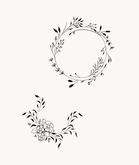 çiçek dövme modeli 5