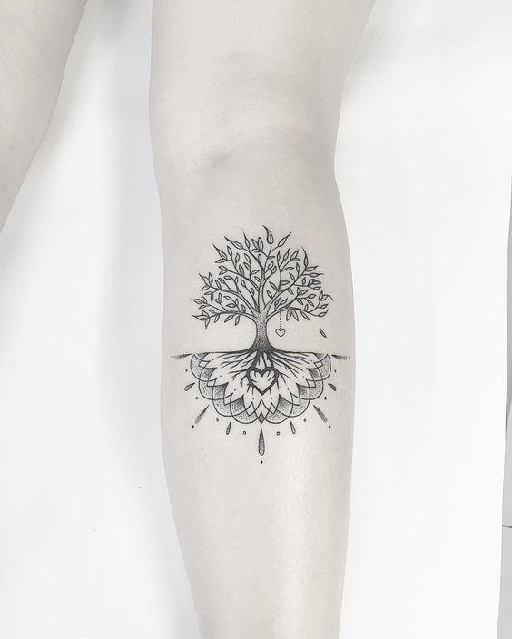 soy agacı dövme modeli