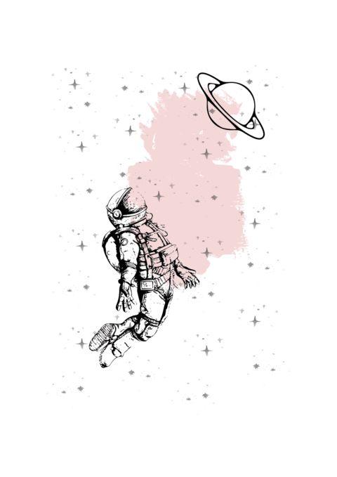 astronot dövme modelleri