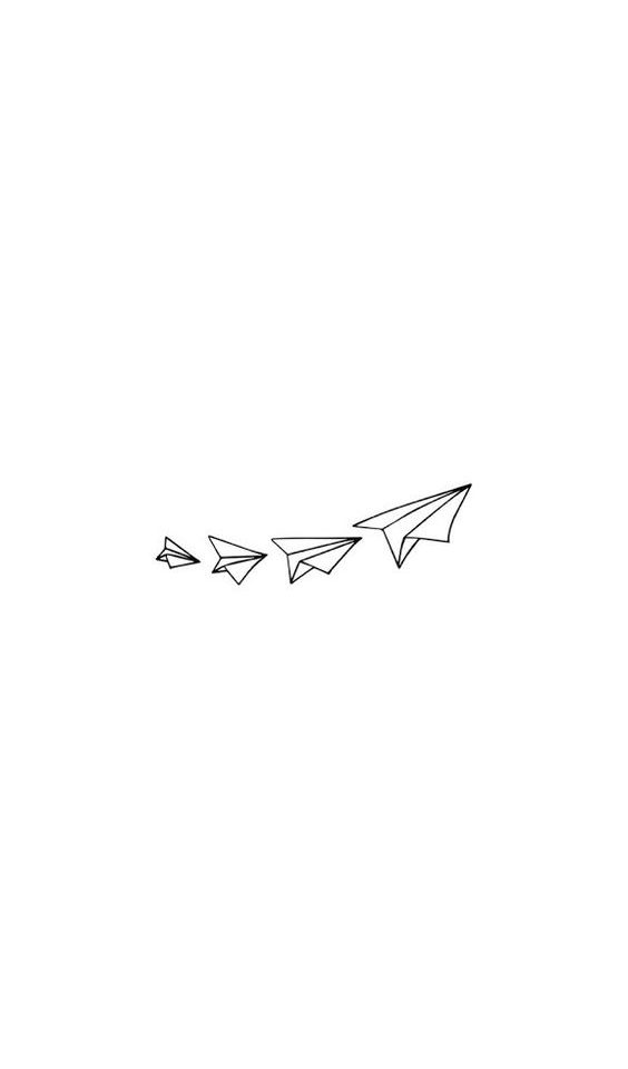 uçak dövme modeli
