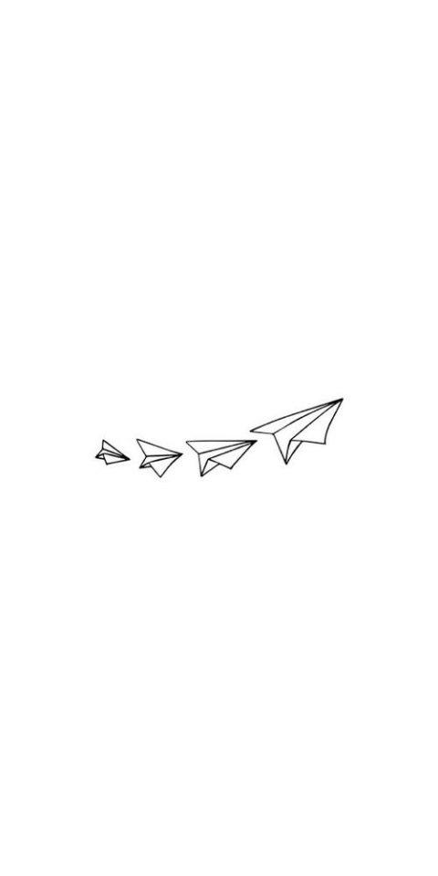 uçak dövme çizimi