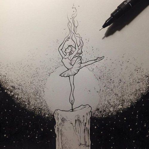 balerin dövme modeli