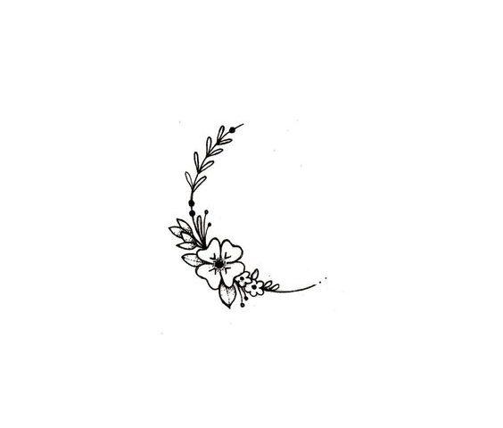 hilal çiçek deseni