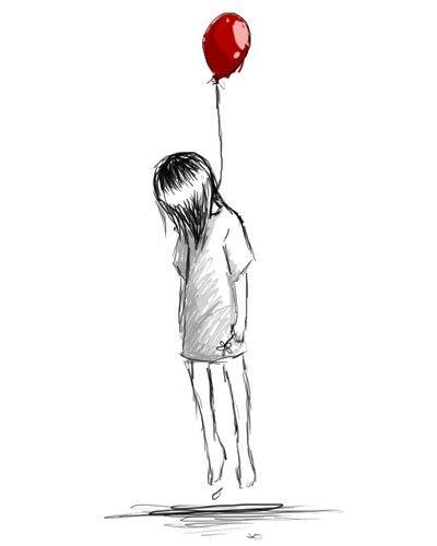 küçük kız balon dövme modeli