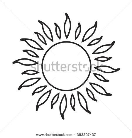 güneş dövme modeli