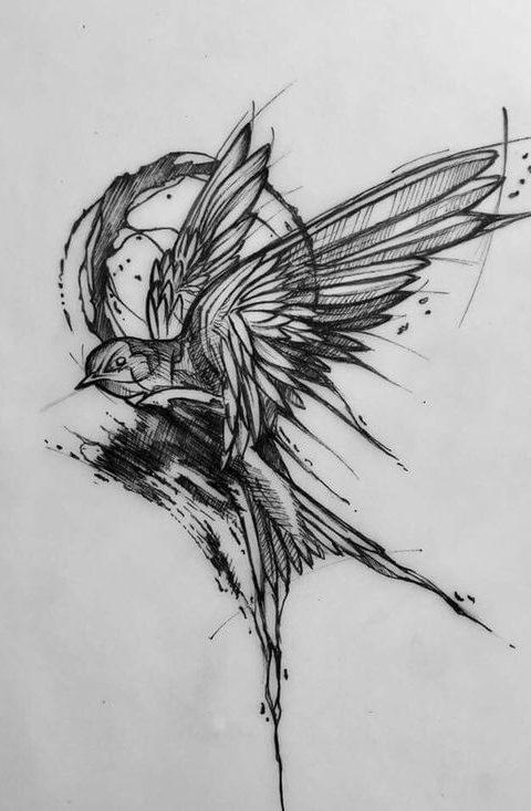 kırlangıç tattoo desing