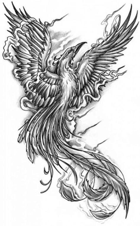 anka kuşu dövme modeli