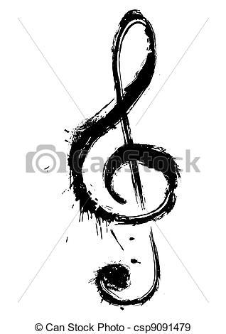 music-symbol-drawing_csp9091479